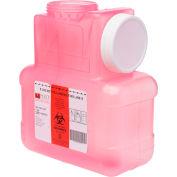 Post Medical 1 Gallon Leak-tight Sharps Container with Locking Screw Cap, Translucent Red, 12/CS