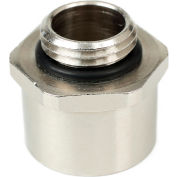 Patlite NE-NPT-BR 1/2 NPT Adapter For NE Series, Nickel Plated Brass, Silver