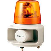 Patlite RT-120E-Y+FC015 Smart Alert Plus Rotating Beacon & Horn W/32 Sounds, Amber Light, AC120V