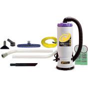 """ProTeam® 6 Qt. Super QuarterVac HEPA Backpack Vac w/14"""" Floor Tool, Wand Kit - 107108"""