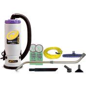 """ProTeam® 6 Qt. Super QuarterVac HEPA Backpack Vac w/14"""" Floor Tool, Telescoping Wand - 107118"""