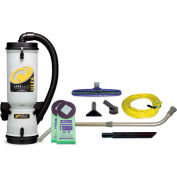"ProTeam® 10 Qt. LineVacer HEPA Backpack Vac w/14"" Floor & Telescoping Wand Tool Kit - 107142"