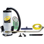 "ProTeam® 6 Qt. QuietPro BP HEPA Backpack Vac w/14"" Floor Tool, Telescoping Wand Kit - 107146"