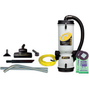 """ProTeam® 10 Qt. LineVacer HEPA Backpack Vacuum w/Friction Fit Wand 1-1/2"""", Tool Kit - 107161"""