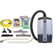 """ProTeam® 6 Qt. ProVac FS 6 Backpack Vac w/Restaurant Tools, 2 Pc. Wand Kit 56"""" - 107363"""