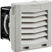 Hoffman HF Series 4 Inch Side-Mount Filter Fan for Enclosure, 21 CFM, 24V