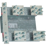 Hoffman CTMB4001LS, Ct Base 400A 1Ph W/Lug Stud, Galvanized/Paint