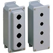 Hoffman ED1PBXM, Push Button Encl, Dome Cover, 1Pb X 22.5Mm
