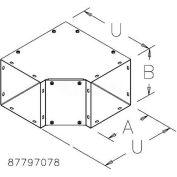 Hoffman F101090TXGV, 90-Degree Elbow-Tee-Cross, Type 1, 10.00x10.00, Galvanized