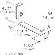 Hoffman LLB Ladder Rack, L-BRKT, Steel/Zinc