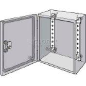 Hoffman LMK23, Mtg Brackets, Qty 2, Fits 230mm, Steel/Zinc