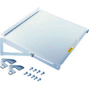 Hoffman PSHDM Folding Shelf, Fits Door Fame, Steel/LtGray