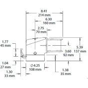 Hoffman S2MFEC, Flange Elbow Coupling, 4.6 Lbs., Cast Alum