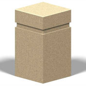 "Petersen Manufacturing B-5 Square Concrete Bollard, "" Dia X 28"" H, Type A Mount, Tan"