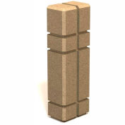 "Petersen Manufacturing SB-128 Square Concrete Bollard, "" Dia X 30"" H, Type B Mount, Tan"