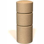"""Petersen Manufacturing BOR36 Round Concrete Bollard, 14"""" Dia X 36"""" H, Type B Mount, Tan"""