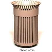 Petersen Avenue Series 40 Gallon Metal Waste Receptacle - Bronze - AVE45 Bronze