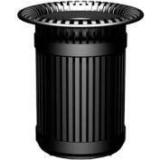Breckenridge Series 38 Gal. Metal Waste Receptacle - Black