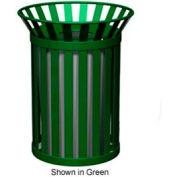 Petersen Broadway Series 32 Gallon Metal Waste Receptacle - Blue - Broadway-Blue