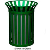 Broadway Series 32 Gal. Metal Waste Receptacle - Bronze