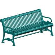 """Lemars Metal Frame Bench 72"""" Pro Green"""