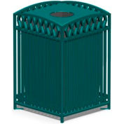 Petersen Novak Series 38 Gallon Metal Waste Receptacle - Green - NVT32 Pro Green