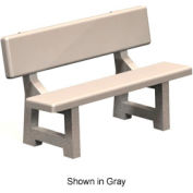 "Concrete Park Bench 58"" - Tan"