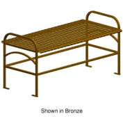 "Sunrise Metal Frame Backless Bench 48"" Black"