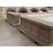 "Petersen Manufacturing Concrete Pedestiran And Traffic Barrier, 36"" H x 96"" L x 24"" W, Type 4 Sand"