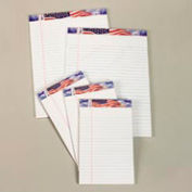 American Pride Writing Pads, White, 5 x 8, 50 Sheets/Pad, 12 Pads/Pack