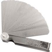 "Proto J00MM25 25 Blade Metric Feeler Gauge Set, 1/2"" x 3-5/16"" Blades"
