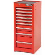 "Proto® 440SS Side Cabinet - 9 Drawer, Black, 15""L X 35""H X 18""D"