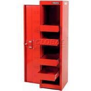 """Proto® 440SS Locker Cabinet - 4 Drawer, Red, 15""""L X 58""""H X 18""""D"""