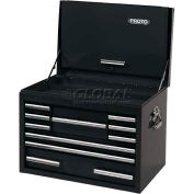 """Proto® 440SS 27"""" Top Chest with Drop Front - 10 Drawer, Black, 27""""L X 19""""H X 18""""D"""
