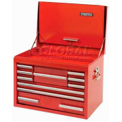 "Proto J442719-10RD-D 440SS 27"" Top Chest with Drop Front - 10 Drawer, Red, 27""L X 19""H X 18""D"