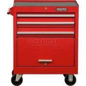 """Proto J442735-3BK 440SS 27"""" Roller Cabinet - 3 Drawer, Black, 27""""L X 35""""H X 18""""D"""