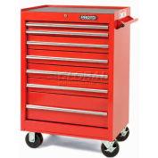 """Proto J442742-7BK 440SS 27"""" Roller Cabinet - 7 Drawer, Black, 27""""L X 42""""H X 18""""D"""