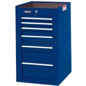 "Proto® 450HS Side Cabinet - 6 Drawer, Blue, 19-1/2""L X 34""H X 25""D"