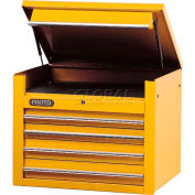 "Proto® 450HS 34"" Top Chest - 4 Drawer, Yellow, 34""L X 27""H X 25""D"
