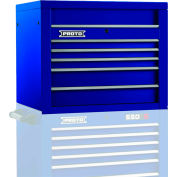 "Proto® 450HS 34"" Top Chest - 5 Drawer, Blue, 34""L X 27""H X 25""D"