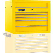 """Proto J553427-5YL 550S Series 34""""W X 25""""D X 27""""H 5 Drawer Yellow Top Chest"""