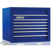 "Proto® 450HS 34"" Top Chest - 6 Drawer, Blue, 34""L X 27""H X 25""D"