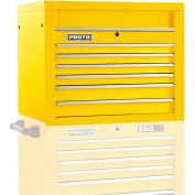 "Proto® 450HS 34"" Top Chest - 6 Drawer, Yellow, 34""L X 27""H X 25""D"