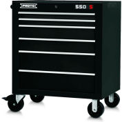 "Proto J553441-6BK 550S Series 34""W X 25""D X 41""H 6 Drawer Black Roller Cabinet"