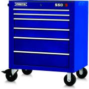"Proto® 450HS 34"" Roller Cabinet - 6 Drawer, Blue, 34""L X 41""H X 25""D"