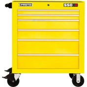 """Proto J553441-6YL 550S Series 34""""W X 25""""D X 41""""H 6 Drawer Yellow Roller Cabinet"""