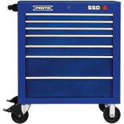 "Proto® 450HS 34"" Roller Cabinet - 7 Drawer, Blue, 34""L X 41""H X 25""D"