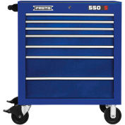 "Proto J553441-7BL 550S Series 34""W X 25""D X 41""H 7 Drawer Blue Roller Cabinet"