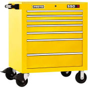 "Proto® 450HS 34"" Roller Cabinet - 7 Drawer, Yellow, 34""L X 41""H X 25""D"