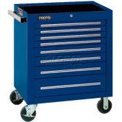 "Proto J553441-8BL 550S Series 34""W X 25""D X 41""H 8 Drawer Blue Roller Cabinet"